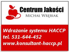 Wdrażanie HACCP, system HACCP, dokumentacja HACCP, Centrum Jakości, Księga HACCP, wdrażanie systemu haccp